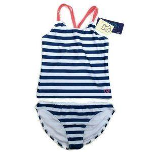PRODOH UPF 50+ Blue Striped Tankini Swimsuit Set